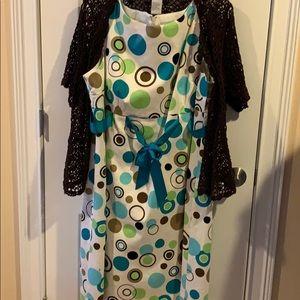 Jessica Howard dress and shrug